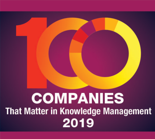 KMWorld Top 100 Companies That Matter In Knowledge Management 2019