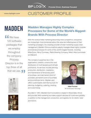 BP Logix Customer Profile - Madden